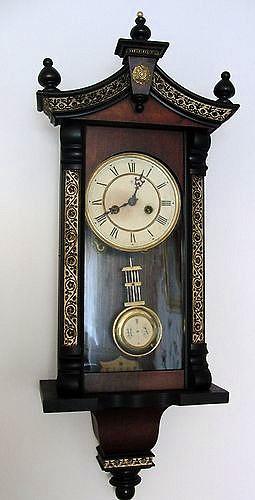 Antico Orologio Tedesco Junghans Epoca fine '800 a pendolo da parete