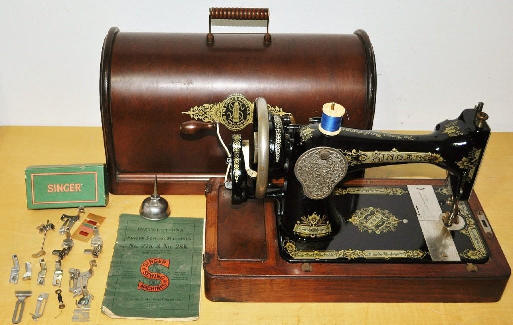 antica macchina da cucire singer del 1918 cose