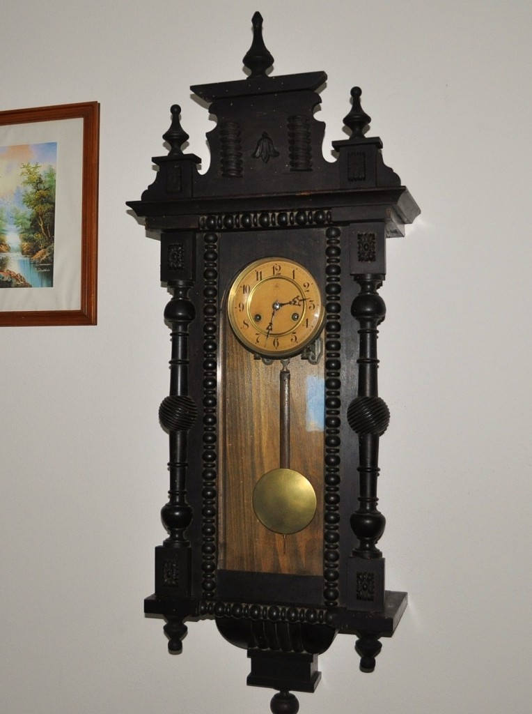 Antico Orologio Tedesco Junghans Epoca fine ?800 a pendolo da parete