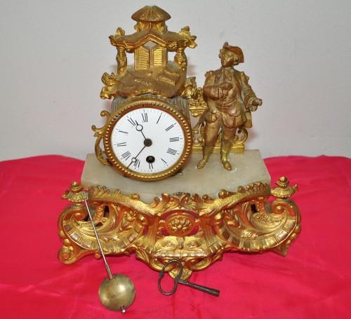 Antico Orologio Francese Parigino Epoca '800 movimento a pendolo